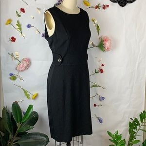Dolce & Gabbana Black virgin wool sheath dress 44